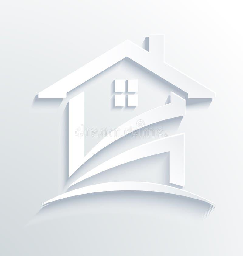 Logotipo da verificação de etiqueta da casa ilustração royalty free