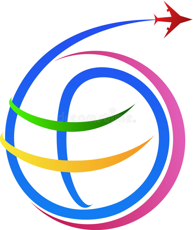 Logotipo da viagem aérea ilustração do vetor