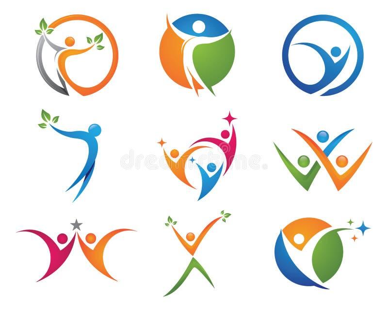 Logotipo da vida da saúde ilustração stock