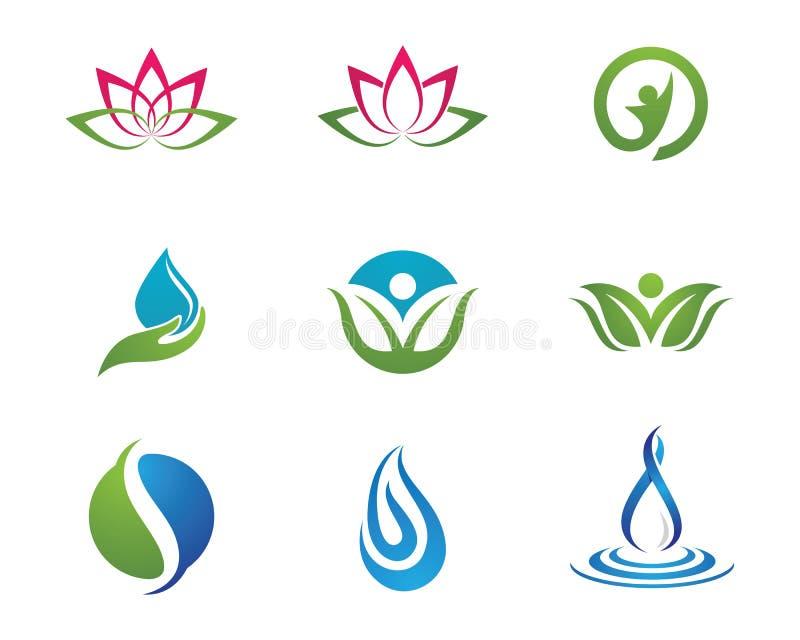 Logotipo da vida da saúde ilustração royalty free