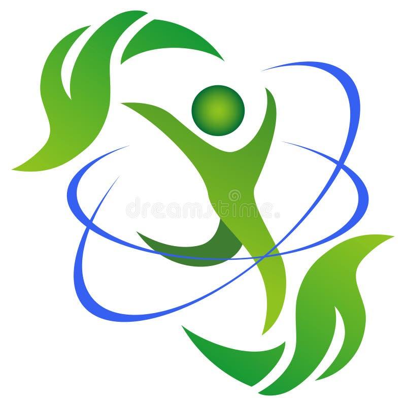 Logotipo da vida saudável e natural ilustração do vetor