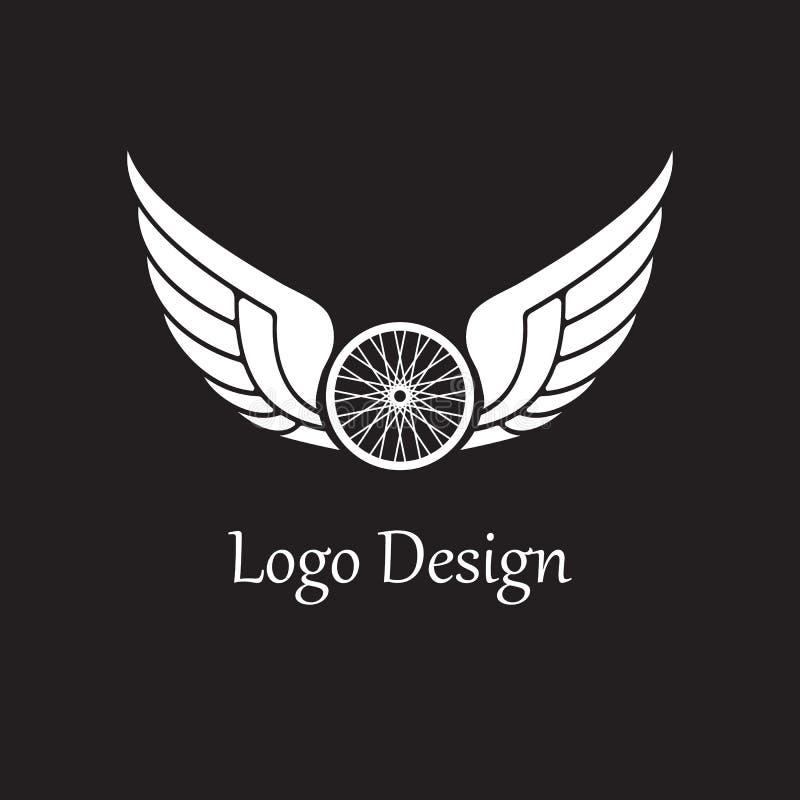 Logotipo das asas ilustração do vetor