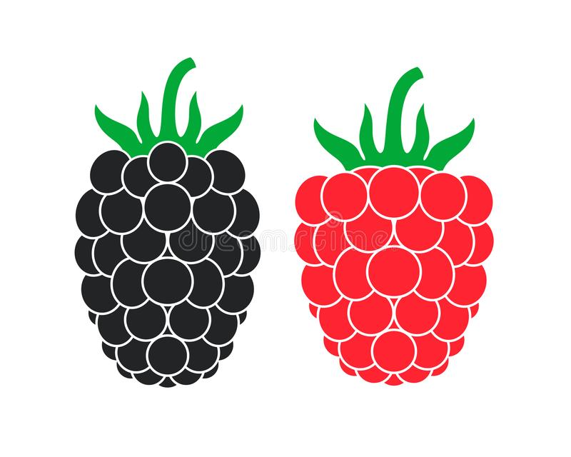 Logotipo das framboesas Logotipo de Blackberry jogo ilustração do vetor
