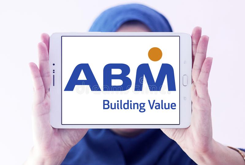 Logotipo das indústrias do ABM foto de stock