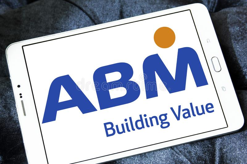 Logotipo das indústrias do ABM fotos de stock royalty free