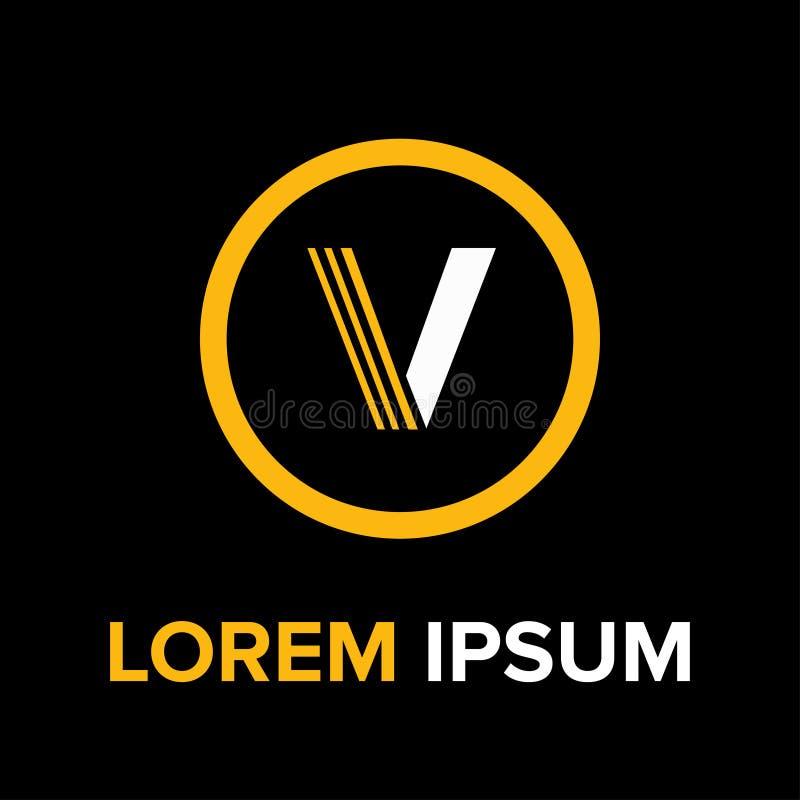 Logotipo das letras v para o negócio fotografia de stock royalty free