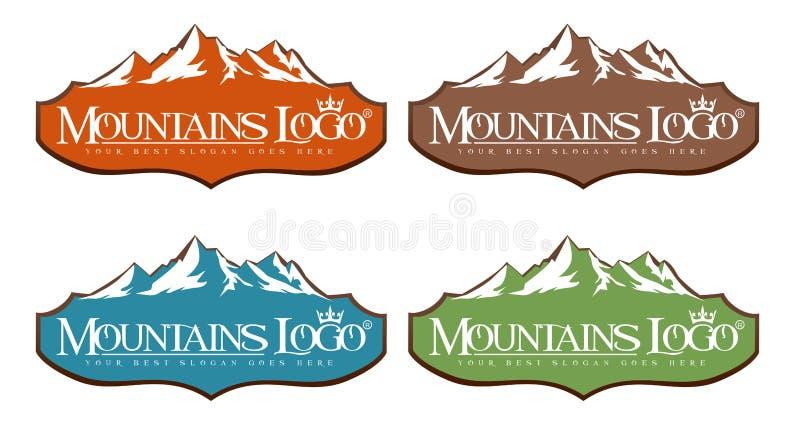 Logotipo das montanhas ilustração royalty free