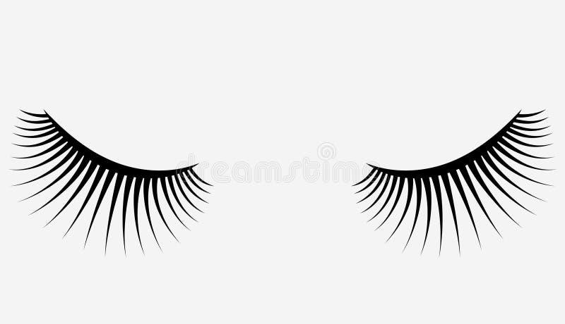 Logotipo das pestanas Cabelo estilizado Linhas abstratas de forma triangular Ilustração preto e branco do vetor ilustração royalty free