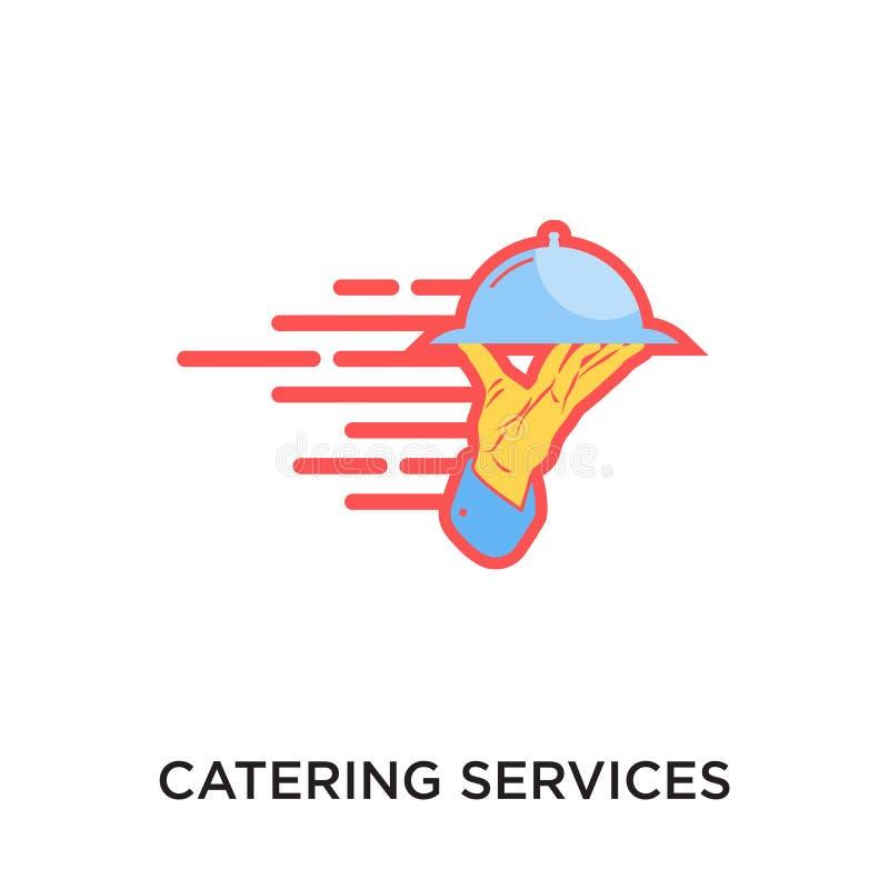 logotipo de abastecimiento de los servicios aislado en el fondo blanco para su web stock de ilustración