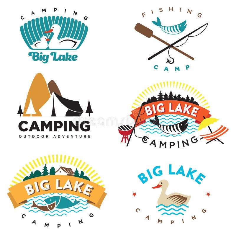 Logotipo de acampamento ilustração stock