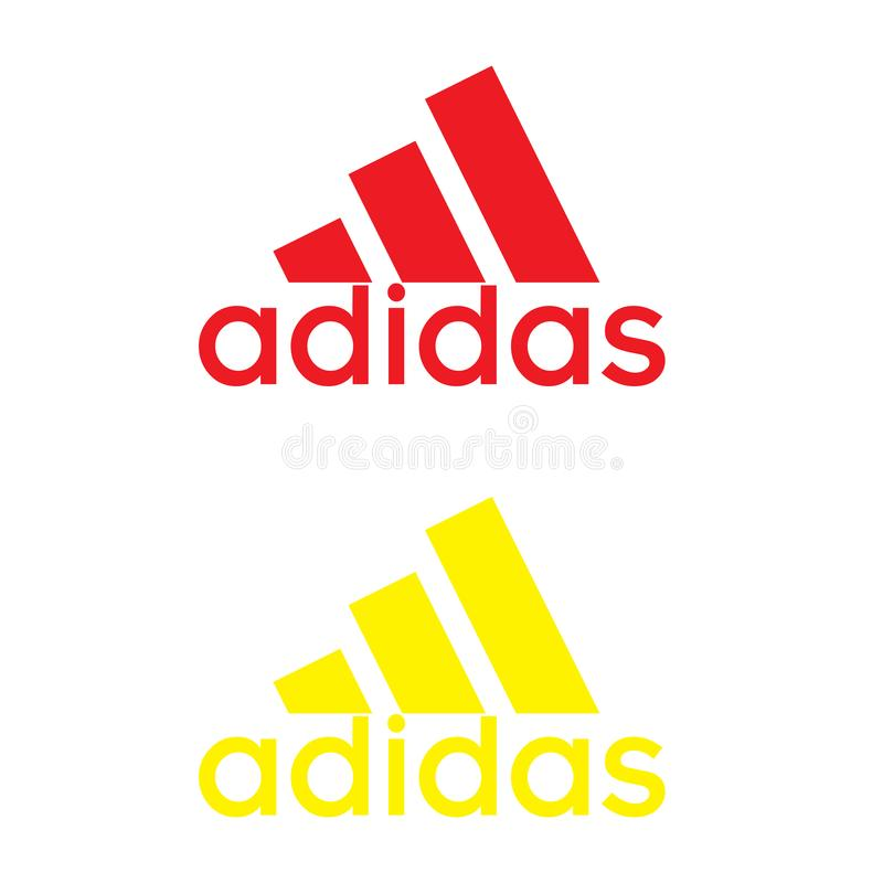 Logotipo de Adidas en el fondo blanco stock de ilustración