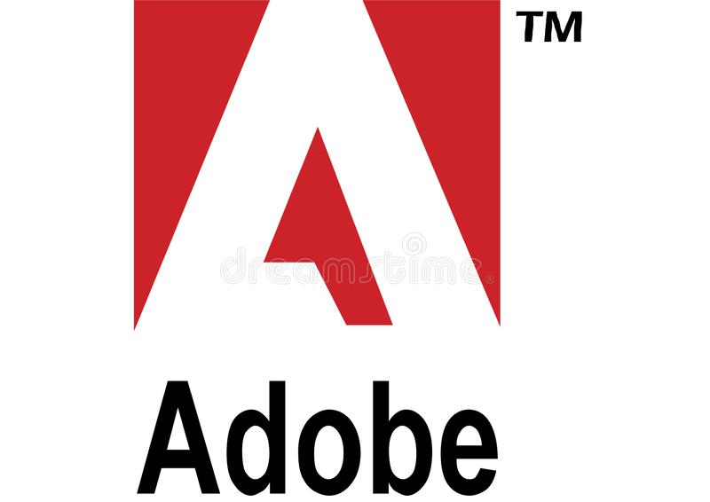 Logotipo de Adobe ilustração do vetor