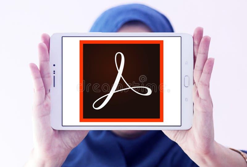 Logotipo de Adobe Acrobat fotografia de stock