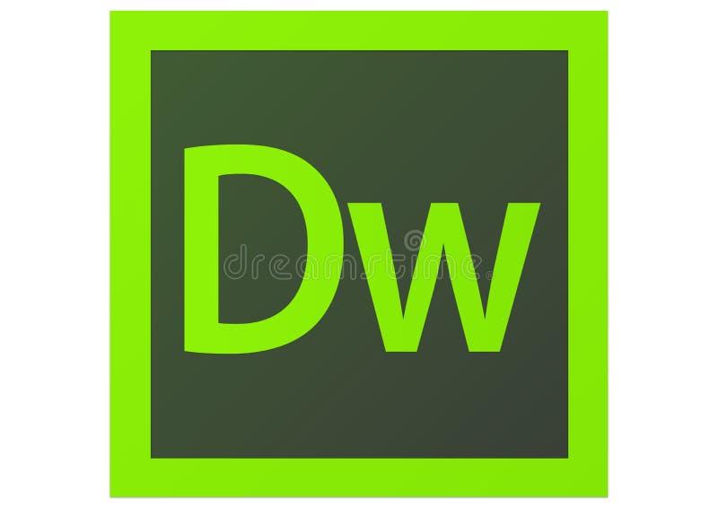 Logotipo de Adobe Dreamweaver CS6 ilustração stock