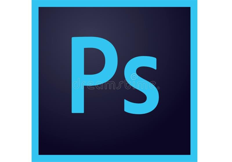 Logotipo de Adobe Photoshop centímetro cúbico ilustração royalty free