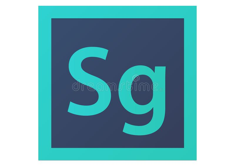 Logotipo de Adobe SpeedGrade CS6 ilustração stock