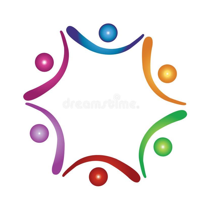 Logotipo de ajuda da equipe ilustração do vetor