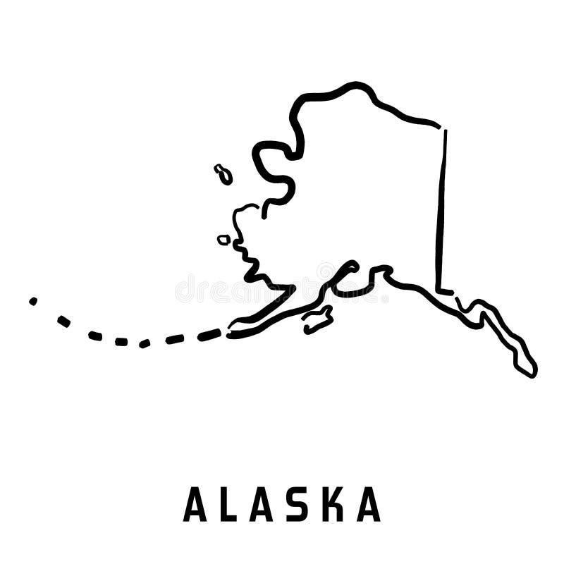 Logotipo de Alaska ilustração do vetor