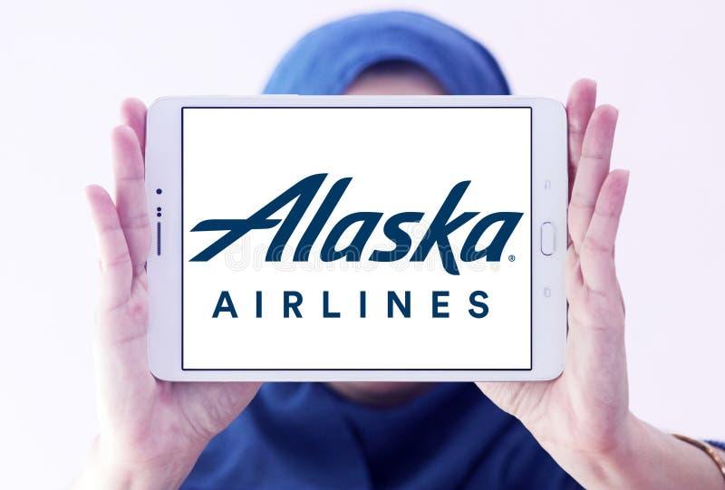 Logotipo de Alaska Airlines fotografía de archivo