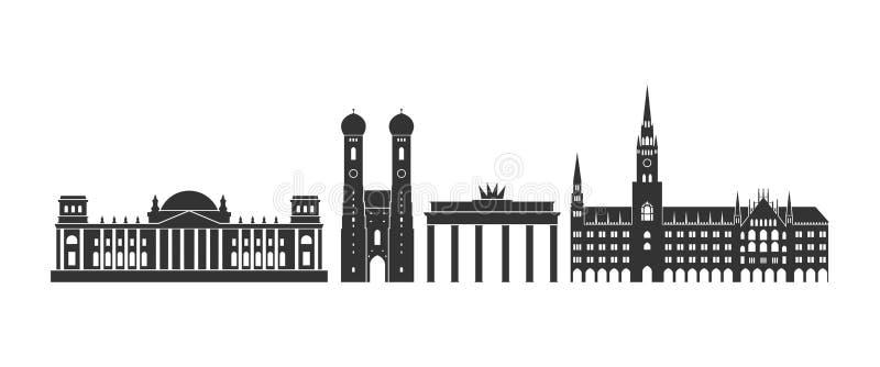 Logotipo de Alemanha Arquitetura alemão isolada no fundo branco ilustração royalty free