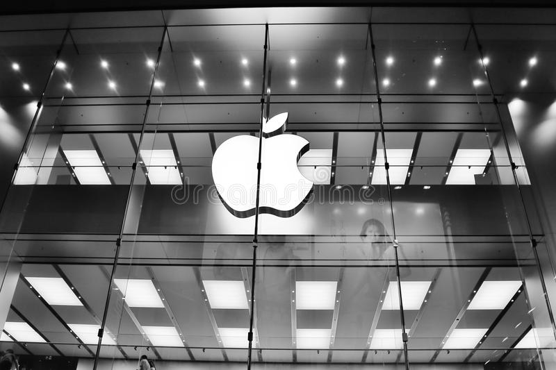 Download Logotipo de Apple foto de archivo editorial. Imagen de blanco - 42426658