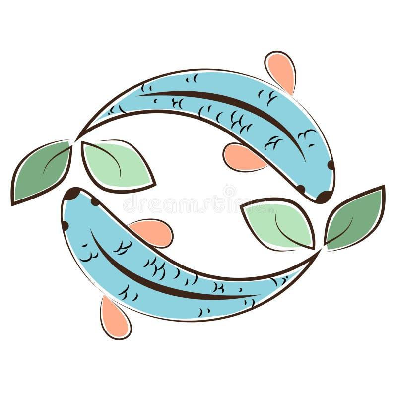 Logotipo de Aquaponic ilustração do vetor