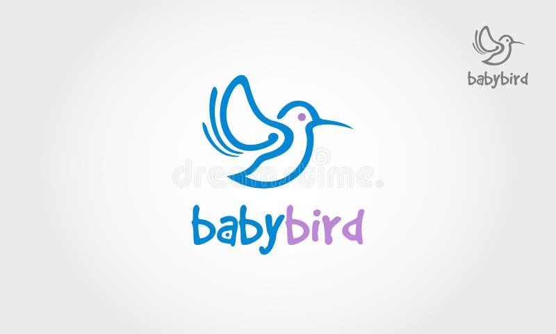 Logotipo de BabyBird ilustración del vector