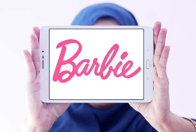 Logotipo de Barbie imagenes de archivo
