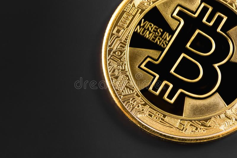 Logotipo de Bitcoin fotos de archivo