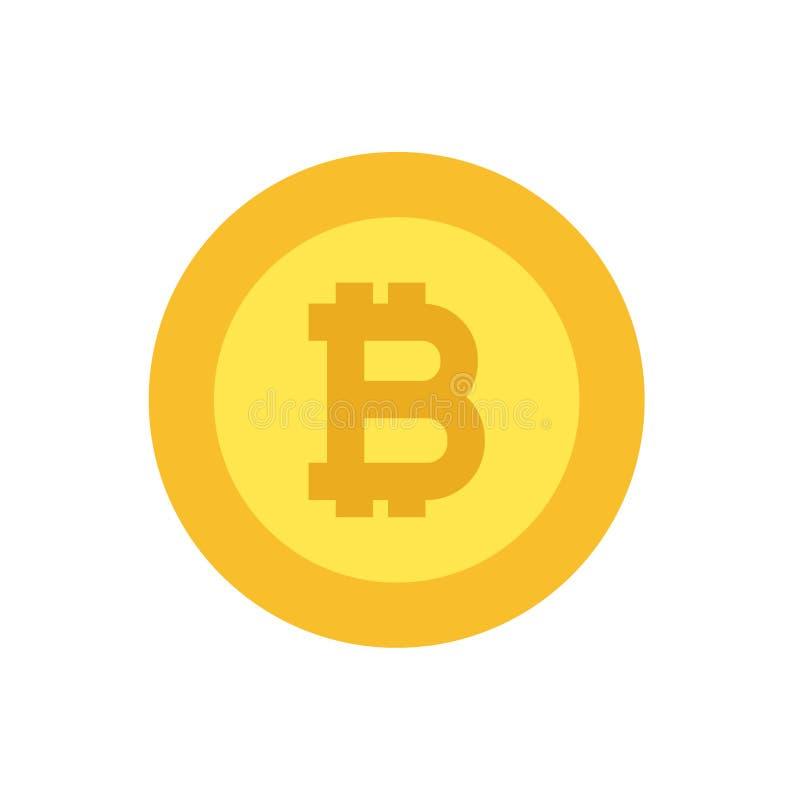 Logotipo de Bitcoin no ouro, ilustração lisa do projeto imagem de stock