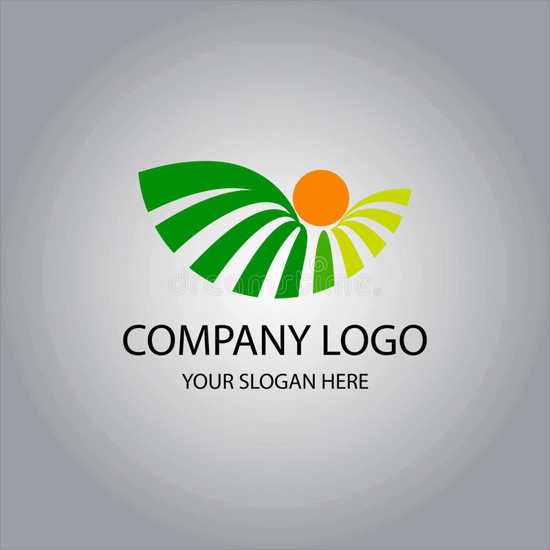 Logotipo de Botani ilustração stock