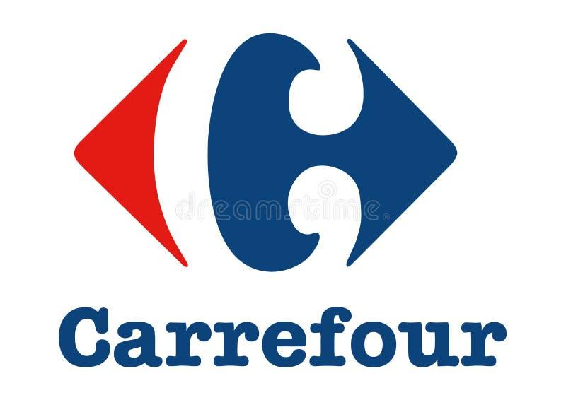 Logotipo de Carrefour ilustração royalty free