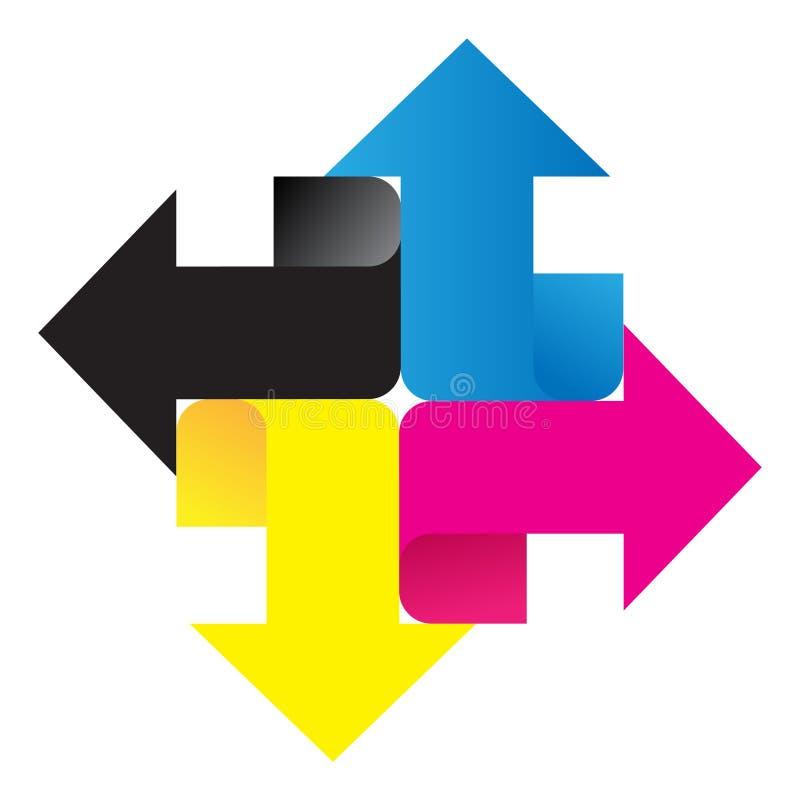 Logotipo de Cmyk ilustração royalty free