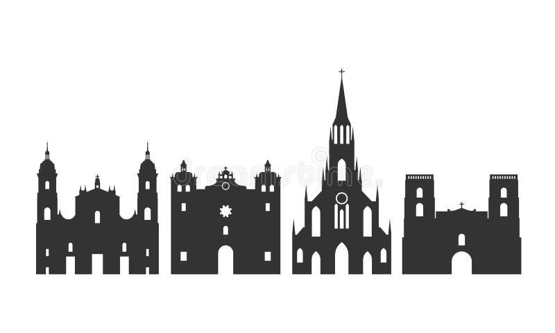 Logotipo de Colômbia Arquitetura colombiana isolada no fundo branco ilustração royalty free