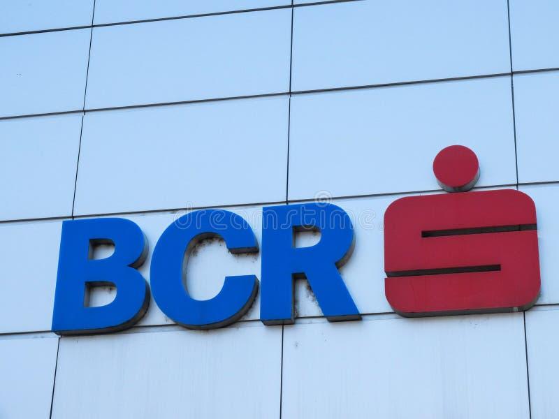 Logotipo de Commercial Bank do Romanian (BCR) foto de stock