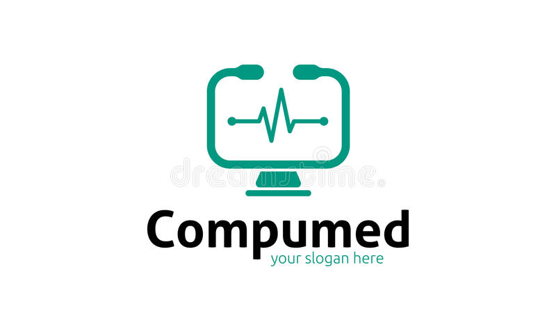 Logotipo de Compumed ilustração royalty free