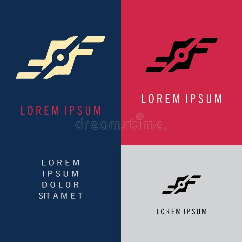 Logotipo de conexión de la letra F ilustración del vector