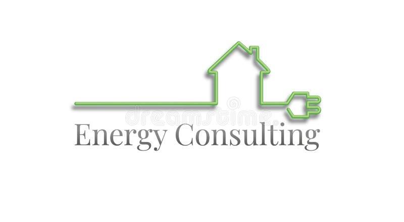 Logotipo de consulta da energia ilustração stock