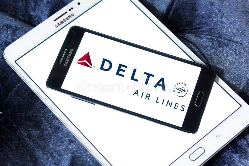 Logotipo de Delta Airlines imagem de stock royalty free