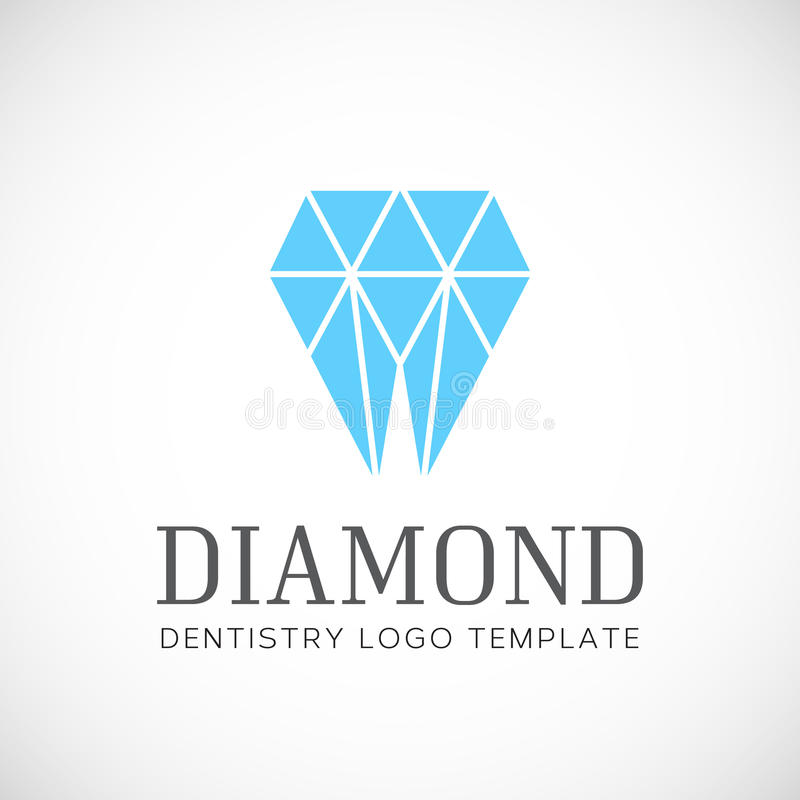 Logotipo de Diamond Dentistry Tooth Abstract Vetora ilustração royalty free
