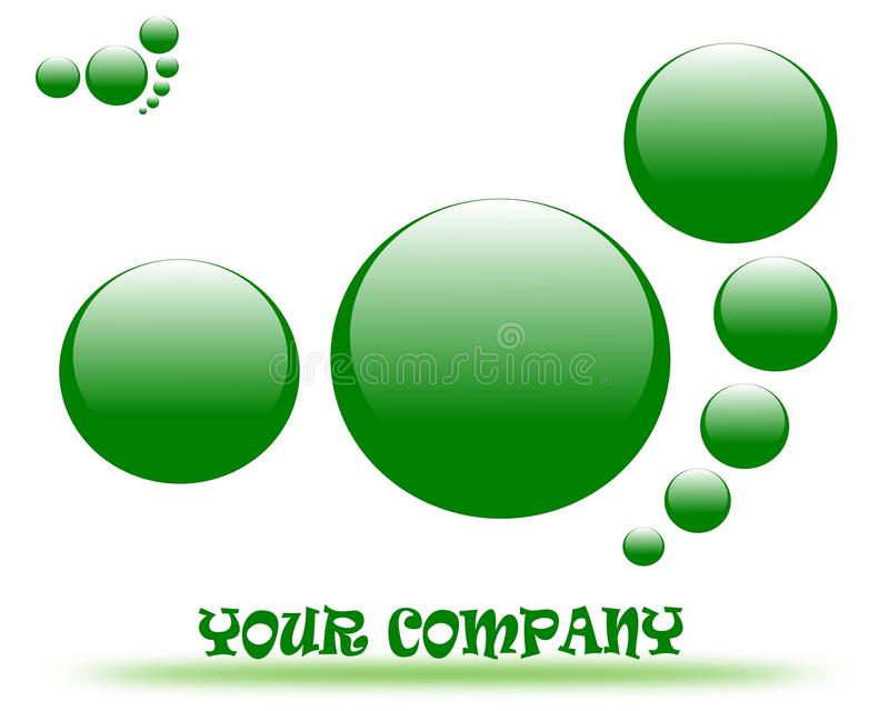 Logotipo de dibujo de la compañía stock de ilustración