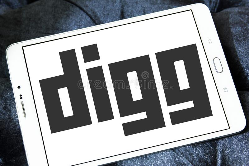 Download Logotipo de Digg foto editorial. Imagen de visualización - 100530076