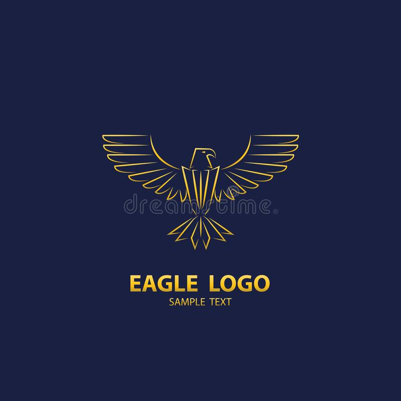Logotipo de Eagle, lujo del diseño ilustración del vector