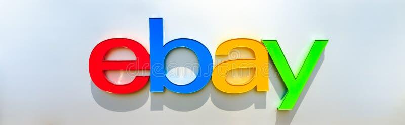 Logotipo de Ebay isolado imagem de stock