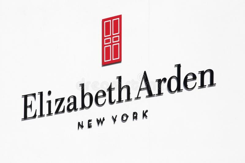 Logotipo de Elizabeth Arden em uma parede imagens de stock royalty free
