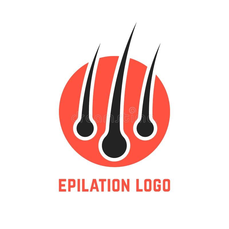 Logotipo De Epilation Con La Raíz Del Pelo Ilustración del Vector ...
