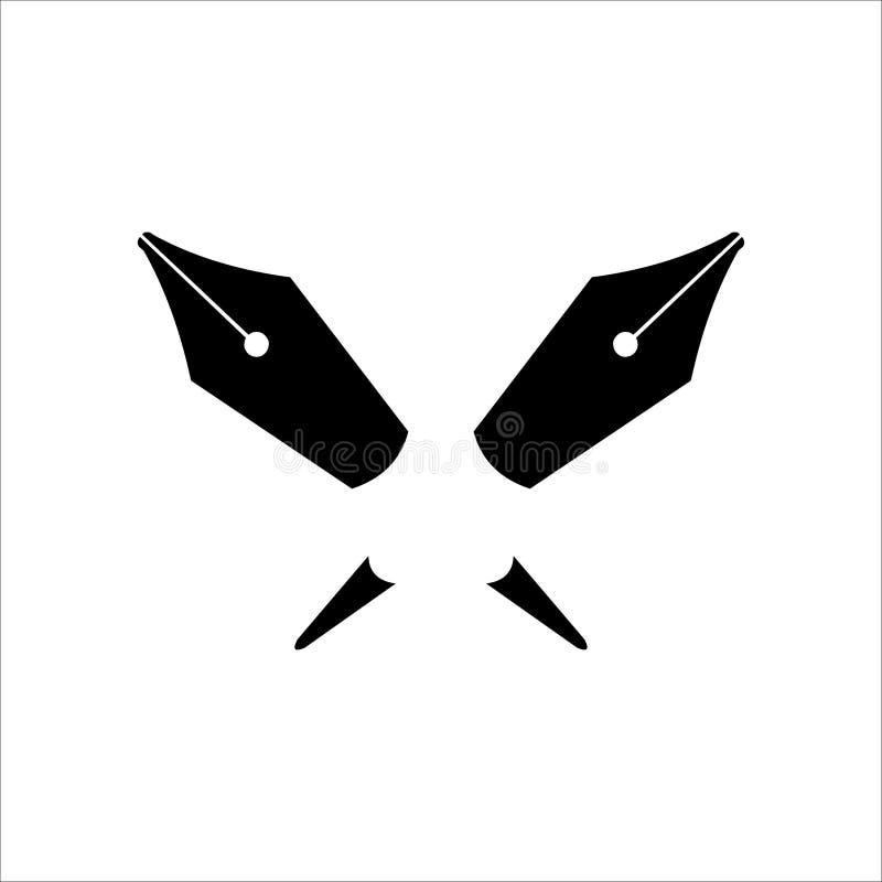 Logotipo de escritores fotografía de archivo