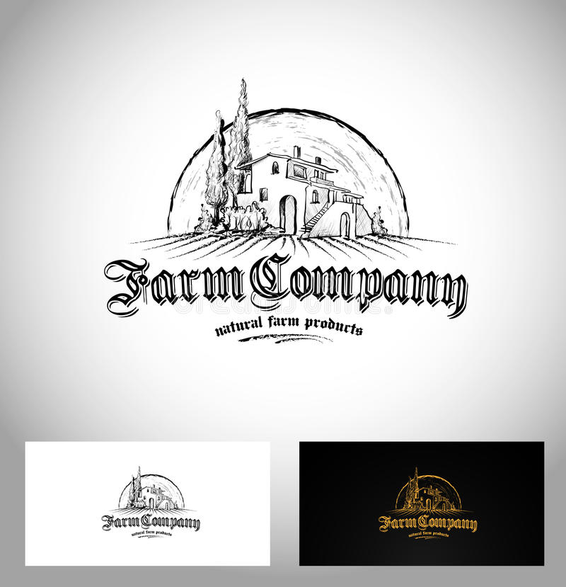 Logotipo de Farm Company ilustración del vector