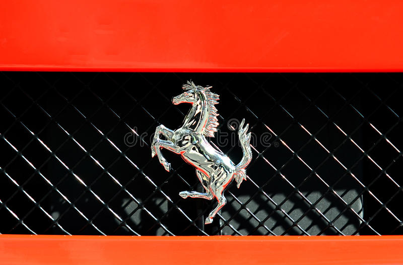 Logotipo de Ferrari imagem de stock royalty free