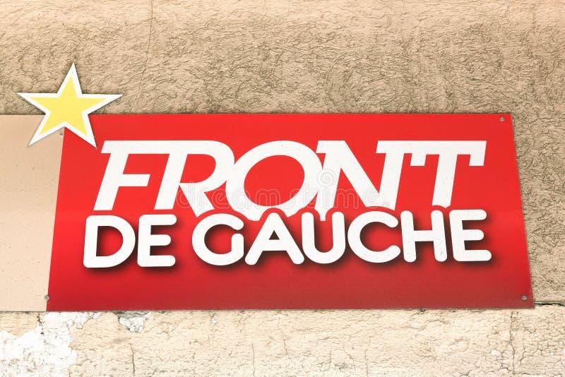Logotipo de Front de Gauche em uma parede fotos de stock royalty free